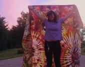 Huge Tie Dye Tapestry