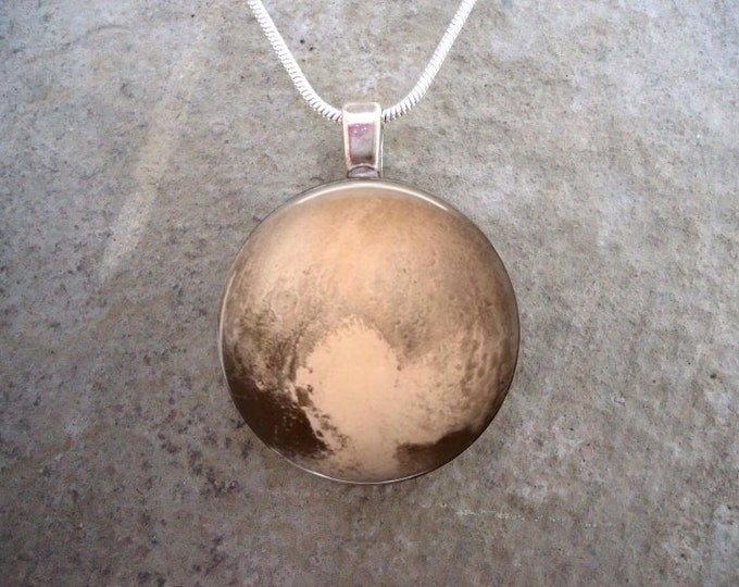 Dwarf Planet Pluto Jewelry - Glass Pendant Necklace - Astronomy - Science