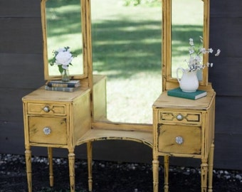 Antique Yellow Vanity