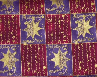"""One Yard Quilt Cotton Fabric """"Following Yonder Star""""   by  Artistic Expressions"""
