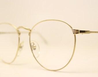 Vintage Gold Glasses Frames Unique P3 1980s Retro Eyeglass Frames