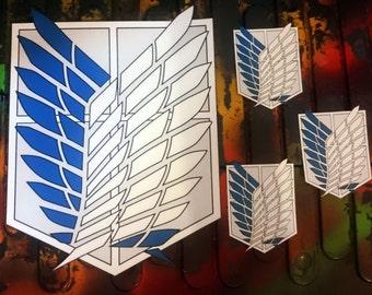 iron on patch set ATTACK ON TITAN shingeki no kyojin snk survey corps jacket patch set