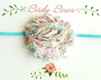 Light Pink Floral Headband, Baby Headbands, Infant Headbands, Baby Bows, Baby Girl Headbands, Infant Bows, Newborn Headbands
