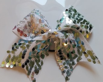 Pastel Ombre Sequin Cheer Bow