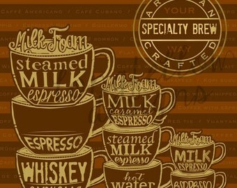 Specialty Brew - Coffee Your Way - Square Print - Different Sizes