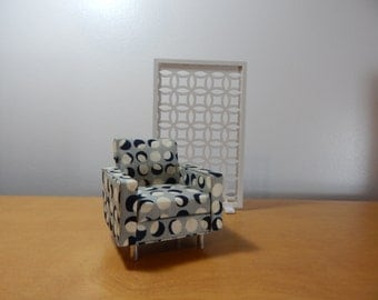 1/12 Scale Mid-Century / Modern Room Divider or Screen