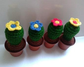Cactus toy crochet amigurmi evergreen pin pillow home decoration.