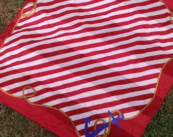Red,White and Blue  Nautical Square Scarf