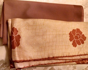 Two  Brown Scarves  Set