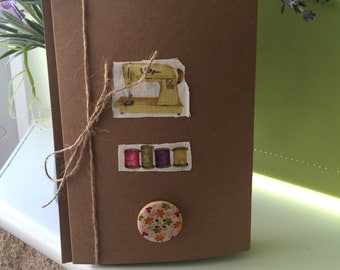 Handmade Card for Sewing Lovers