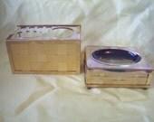 Vintage Bathroom Accessories Stylebuilt Goldtone Toothbrush Holder Soap Holder Retro Bathroom Decor