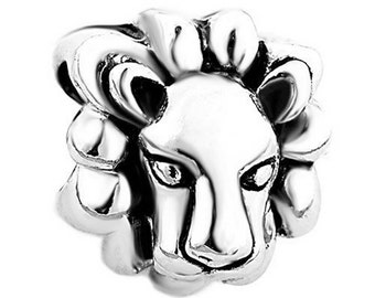 Lion Spacer Bead For European Style Charm Bracelet -