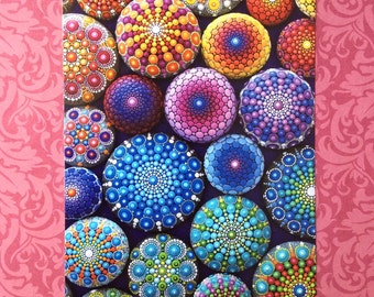 POSTCARD- rainbow mandala collection postcard by Elspeth McLean
