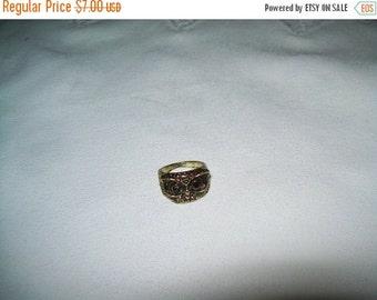 50% OFF Owl Costume Ring, statement ring, vintage goldtone owl ring