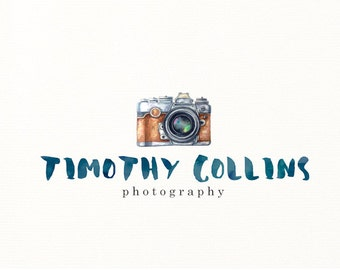 camera logo watercolor painted photography premade - Logo Design #602