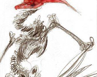 Skeleton 02 - Print of my original illustration