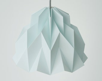 RUFFLE: Origami Paper Lamp Shade - Light Blue / Mint / FiberStore by Fiber Lab