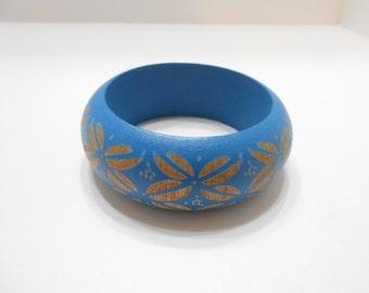 Vintage Wooden Bangle Bracelet (5660)