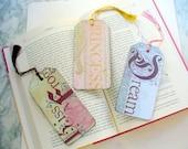 Wood Tag Book Marks, Beautiful Bookmarks, Decoupoge Bookmark, Bookmarker, Paper Bookmark, Book Lover, Ornament, Kiss a Frog, Princess, Dream