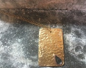 24k gold plated dog tag pendant necklace
