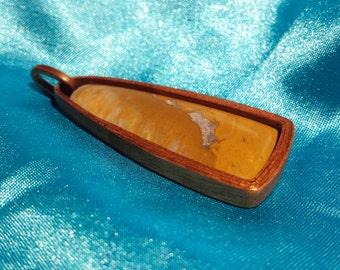 RESERVED custom wood bezel pendant