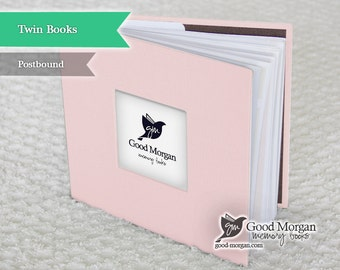 Twins Baby Memory Book - Baby Pink