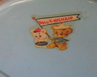 Vintage Amsco Doll - E- Hichair Toy - Blue Baby Doll High Chair