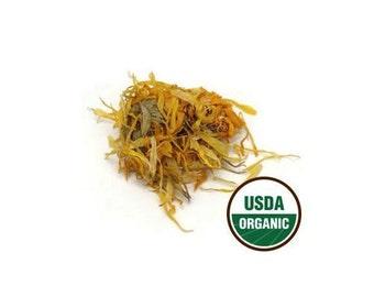 Certified Organic Calendula Officinalis Marigold Dried Flowers Choose 1-16 oz