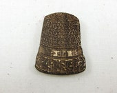 Needle Minder - Stitch Thimble | Wooden Laser Engraved Needle Minder for Cross Stitch, Embroidery, Quilting - Wood Needle Holder
