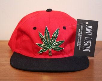 """Vintage """"SWEET LEAF"""" Snapback Hat headwear weed ganja 4/20 smoker vtg adjustable"""