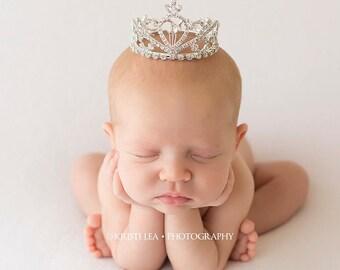 Newborn Crown, crown, princess crown, crystal crown, newborn photo prop, photography prop, photo Prop - Opal