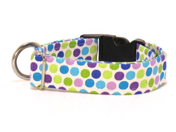 Polka Dot Dog Collar, Dog Collar, Polka Dots, FREE SHIPPING, adjustable dog collar