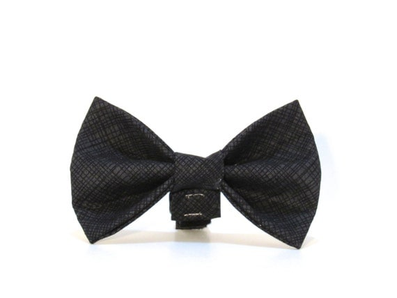 Black Dog Bow Tie, Dog Bow Tie, Wedding Bow Tie, Black Tie Affair