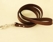 Brown dog Leash, Pet accessory, brown Leather leash,  Dog Lovers, Dog Leash, brown dog accessory