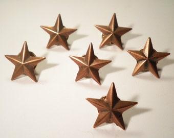 4 Military Bronze Stars Pins