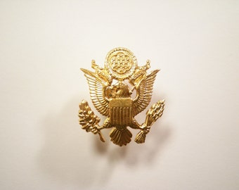 1 Goldplated U.S. Military Hat Pin