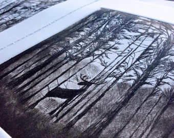 Out of the Darkness - a limited edition drypoint etching