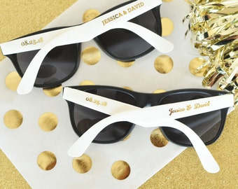 35 Personalized Sunglasses Custom Sunglasses Sunglass Favors, Destination Beach Wedding Favors SET of 24