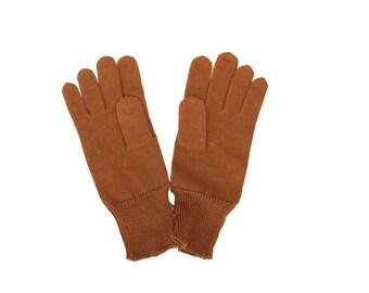 Soviet Vintage Gloves Mittens Winter Gloves 1975 Vintage Unused Brown Gloves, Unisex Accessories Gloves Mittens, Brown Unisex Mittens