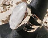 NATROLITE RING, Rare, Beautiful and Chatoyant, Size 9, Gemstone ring, Sterling Silver