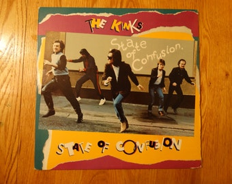 Vintage 1983 The Kinks State of Confusion Vinyl Record Album Come Dancin
