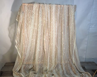 Mid Century Basketweave Curtains