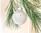 Winter Wedding Favors winter wedding ornament birch tree ornament cardinal ornament hand painted Christmas ornament white christmas ornament
