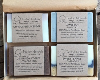 Soap Gift Box - 4 bar Soap Set, All Natural Soap Gift, Hostess Gift, Teacher Gift, Holiday gift