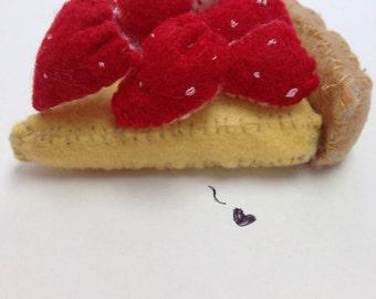 Strawberry tart plushie