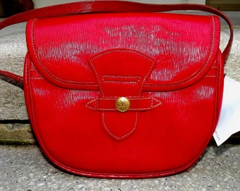 1950s Wetherall red leather handbag