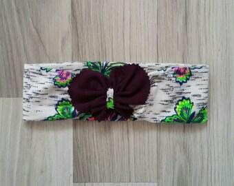 Baby heedband, sequined headband . butterfly headband