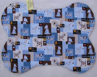 Polka Dot Dogs Pet Bowl Feeding Placemat  Large
