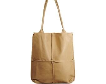 handmade leather tote bag, extra large leather handbag, large leather shoulder bag