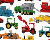 Tractors Fabric – by the Half Yard – Out of Print!